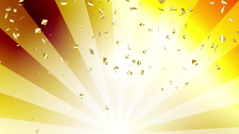 Confetti gold radial background gold Animation