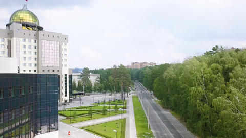 The new main building of Novosibirsk State University. Novosibirsk, Russia. GIF