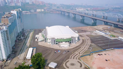 Russia, Krasnoyarsk. PLATINUM ARENA ICE ARENA. The venue for the FIGURE SKATING Live Action