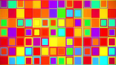 Colorful Crazy Squares Abstract VJ Loop Backgound Animation