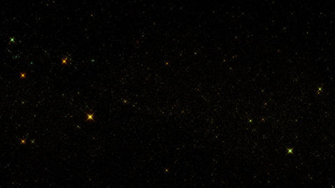 Gold Glowing Starry Sky Starfield Motion Graphic Background Animation