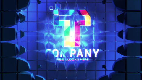 Futuristic Wall Logo Reveals After Effects Template
