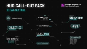 HUD Call Out Titles - Essential Graphics Motion Graphics Template