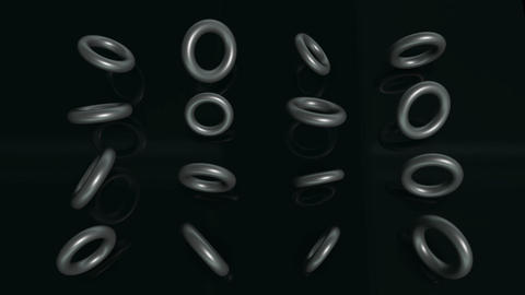 Model Of Torus Rotating Animation