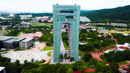 Korea gyeongju national culture expo building Footage
