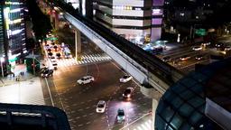 South korea Daegu train(monorail), time lapse Archivo