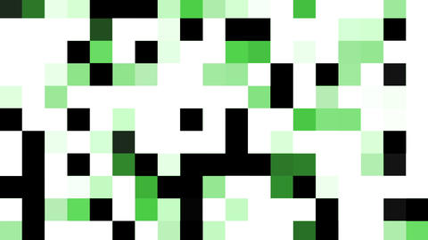 Mosaic transition green Animation
