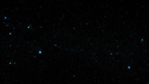 Blue Glowing Starry Sky Starfield Motion Graphic Background Animation