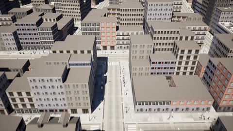 Top view aerial video of development infrastructure city Live Action