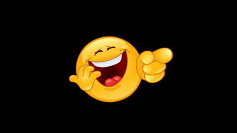 Laughing and pointing emoticon animation Animation