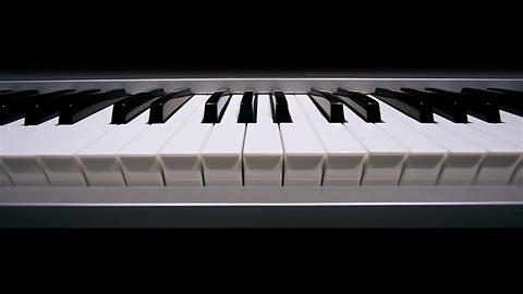 Digital portable piano keys Live Action