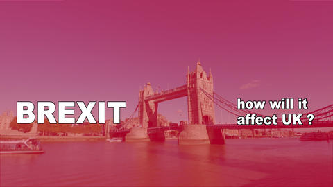 Brexit logo animated video concept with flag and title Stock Video Footage