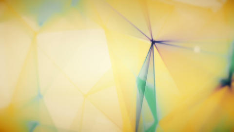 Polygonal Colored Motion Figures Bright Slow Abstract Background Animation