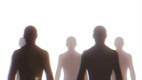 Army Of Men Silhouettes Parade Loop Animation