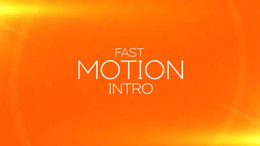 Fast Motion Intro After Effects Project