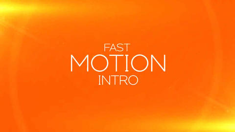 Fast Motion Intro After Effects Template