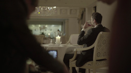 The actor starred in the movie sitting at a table in the restaurant Footage