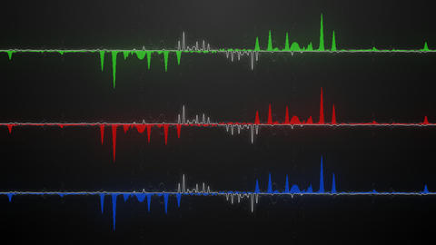 RGB audio waveforms Animation