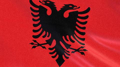 ALBENIA FLAG BACKGROUND Animation