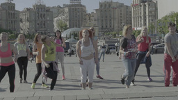 People Are Dancing On The Maidan Slow Motion