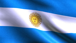 ARGENTINA Flag Slow Waving. Close up of flag waving Animation