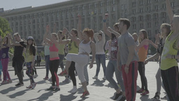 People Are Dancing On The Maidan Slow Motion 2