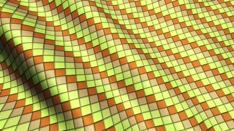 Animated 3D Cloth Colorful Squares Texture Materials 0
