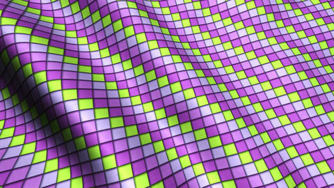 Animated 3D Cloth Colorful Squares Texture Materials 1