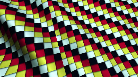 Colorful Squares Fabric Cloth Material Texture Seamless Looped Background Animation