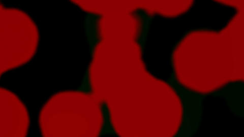 Falling Red Circles On Black Background Animation