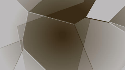 Sepia Grey Geometric Polygonal Motion Tech Background Low Poly Animation Animation