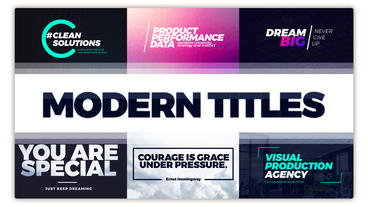 Typography Titles Pack Plantilla de After Effects