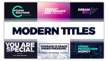 Typography Titles Pack 애프터 이펙트 템플릿