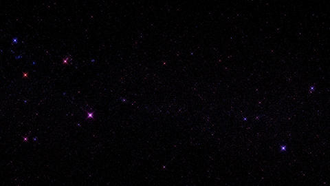 Purple Glowing Starry Sky Starfield Motion Graphic Background Animation
