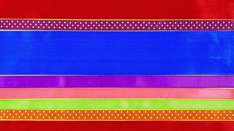 Colorful ribbons. Gift ribbon background Archivo