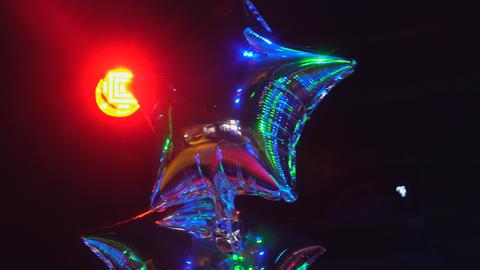 Lights show. Lazer show. Night club dj party people enjoy of music dancing sound Footage