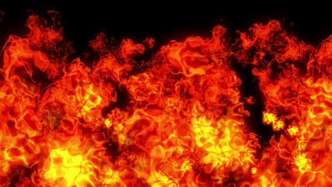 fire explosion all red CG動画