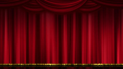 Stage Curtain Open Close red Animation