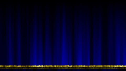 Stage Curtain UpDown blue Stock Video Footage
