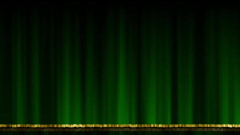 Stage Curtain UpDown green Animation