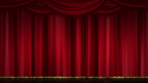 Stage Curtain Zoom red Animation