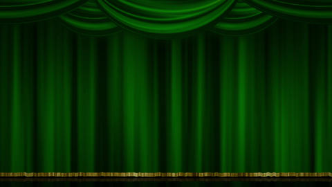 Stage Curtain Zoom green Stock Video Footage