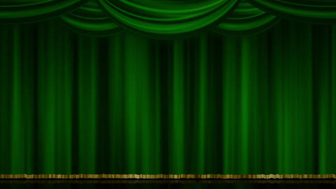 Stage Curtain Zoom green Animation