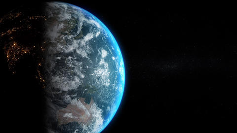 Earth View - Slow Rotation and Zoom in Animation