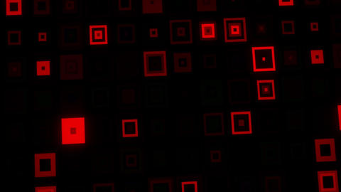 Red Crazy Neon Squares Abstract VJ Loop Background Animation