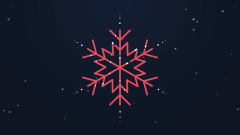 Snowflake Logo Reveal After Effects Template