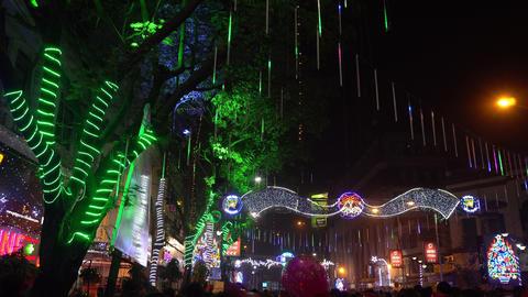 Decorative lighting at Park Street, Kolkata Archivo