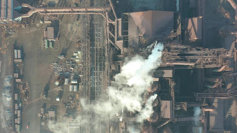 Aerial view. The metallurgical plant. Plant for metal... Stock Video Footage