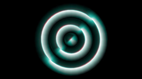 Concentric Monospace blue Animation