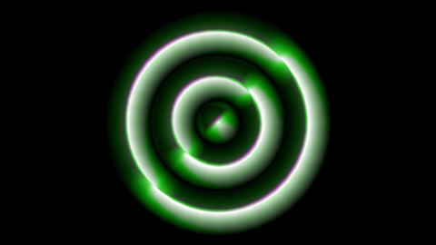 Concentric Monospace green Animation